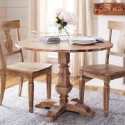 Bradding Natural Stonewash Round Dining Tables 2