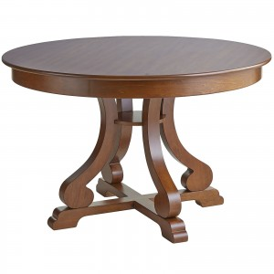 Marchella Collection Pecan Brown Round Dining Table