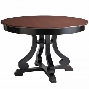 Marchella Conllection Rubbed Black Round Dining Table